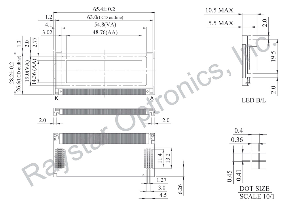 Graphical LCD Display, Graphical LCD Module - RG12232B1