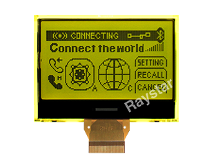 128x64 COG LCD Module, Chip-on-Glass LCD Module - RX12864A1