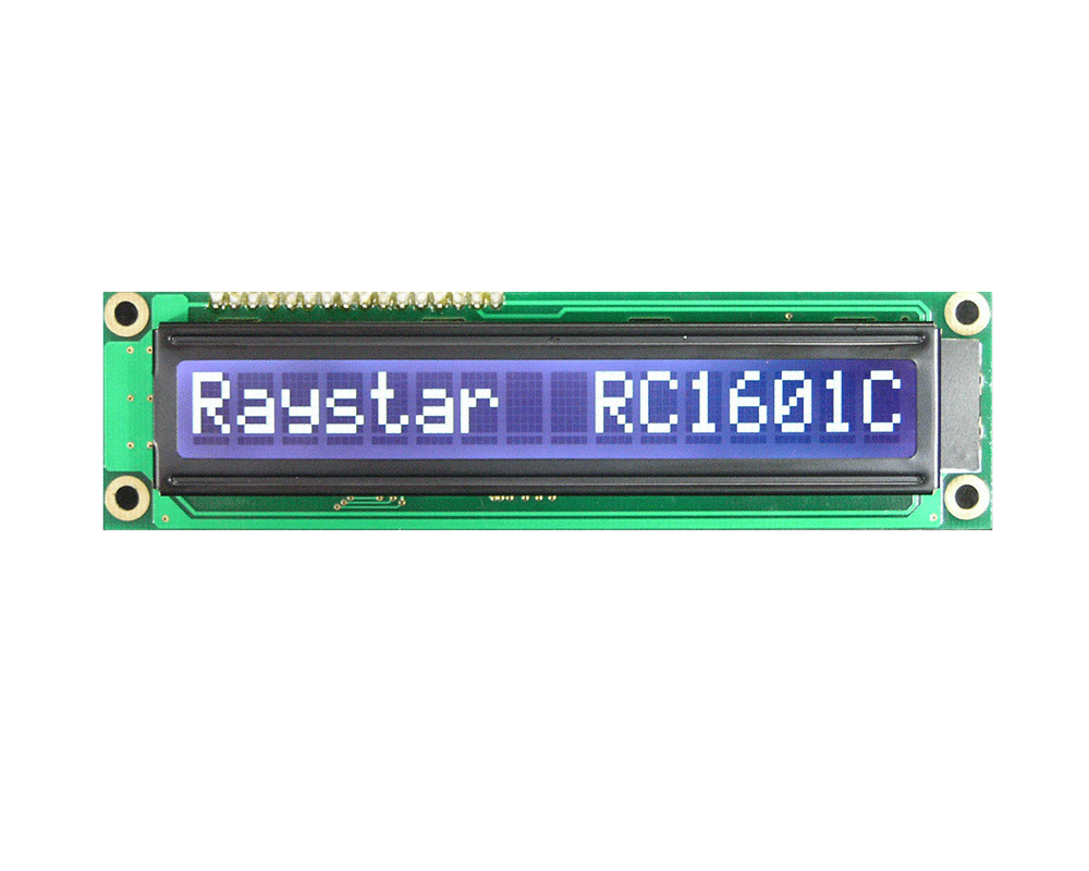 16x1 Character Monochrome LCD Displays - RC1601C