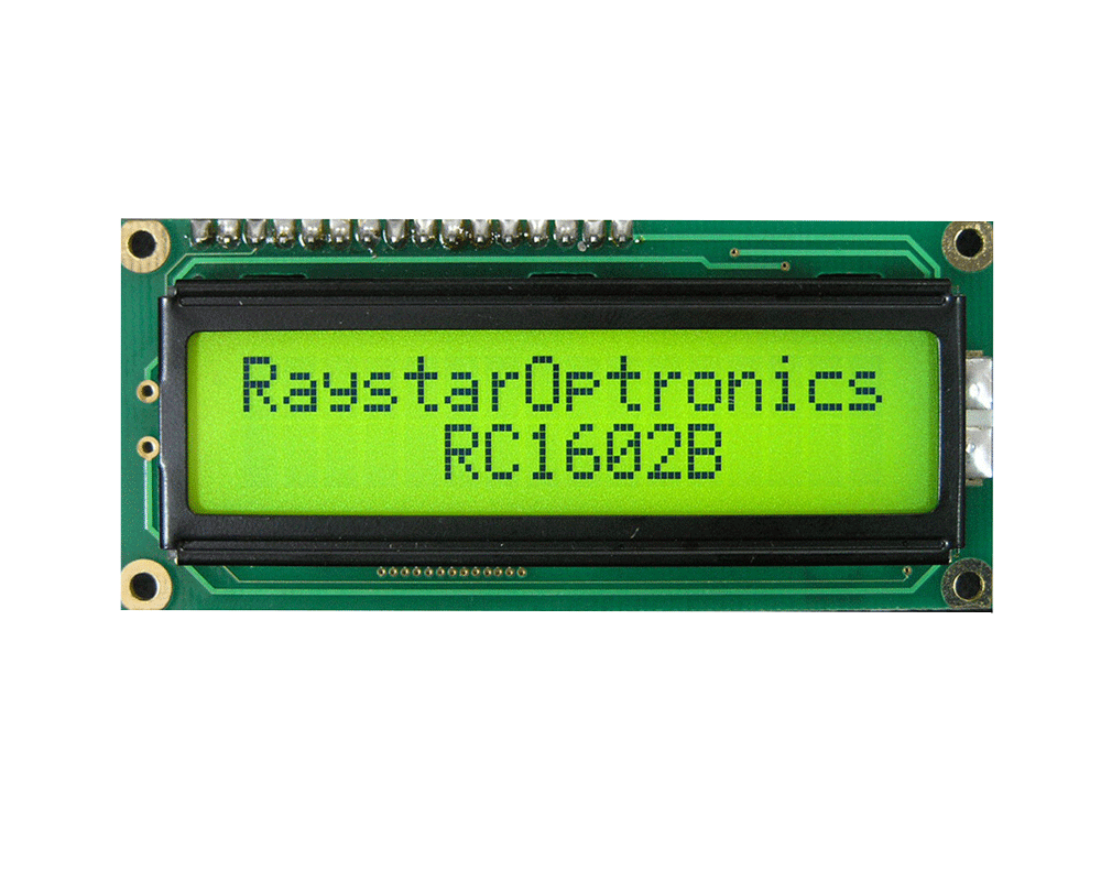 16x2 Character LCD Display - RC1602B - Raystar