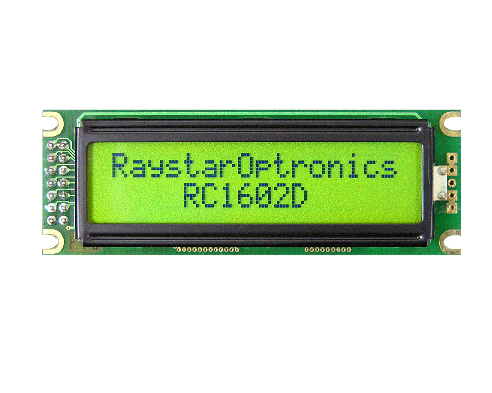 Two Line LCD Display, 2 Line LCD Display Datasheet, 2 Line 16 Character LCD Display Datasheet, RC160
