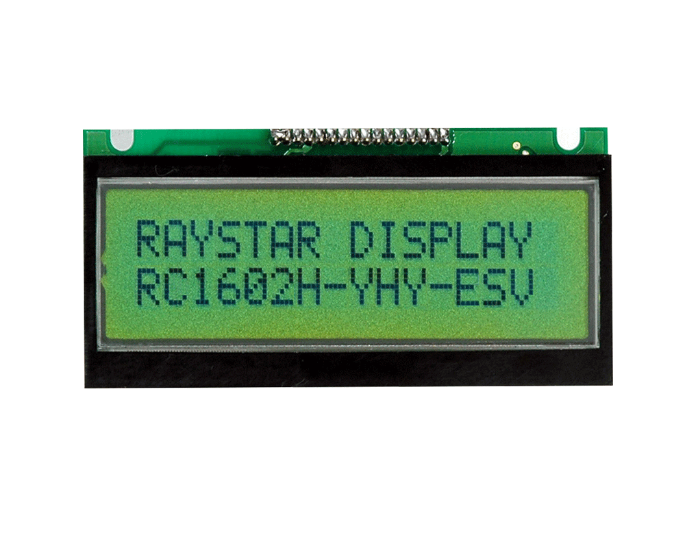 Character Monochrome LCD 16x2 - RC1602H