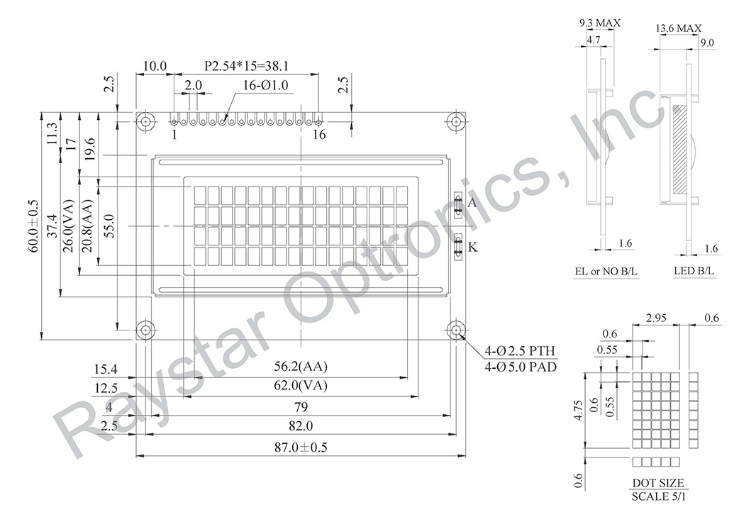 Display LCD 16x4, LCD Display 16x4, 16x4 LCD Display Module - RC1604A