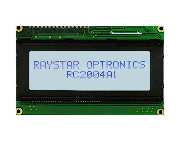 20 Characters × 4 Lines Monochrome Display Module - RC2004A1