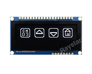 SSD1305 OLED, Capacitive Touch OLED Display 128x32, 2.23