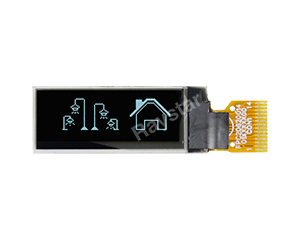 "0.91"" I2C Graphic OLED Display 128x32"