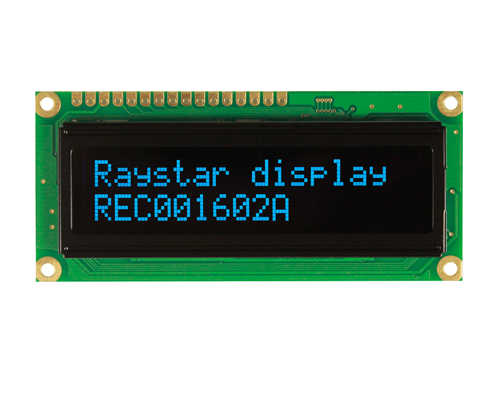 OLED 16x2 Character Display, 16x2 OLED Display, OLED Display 16x2 - REC001602A