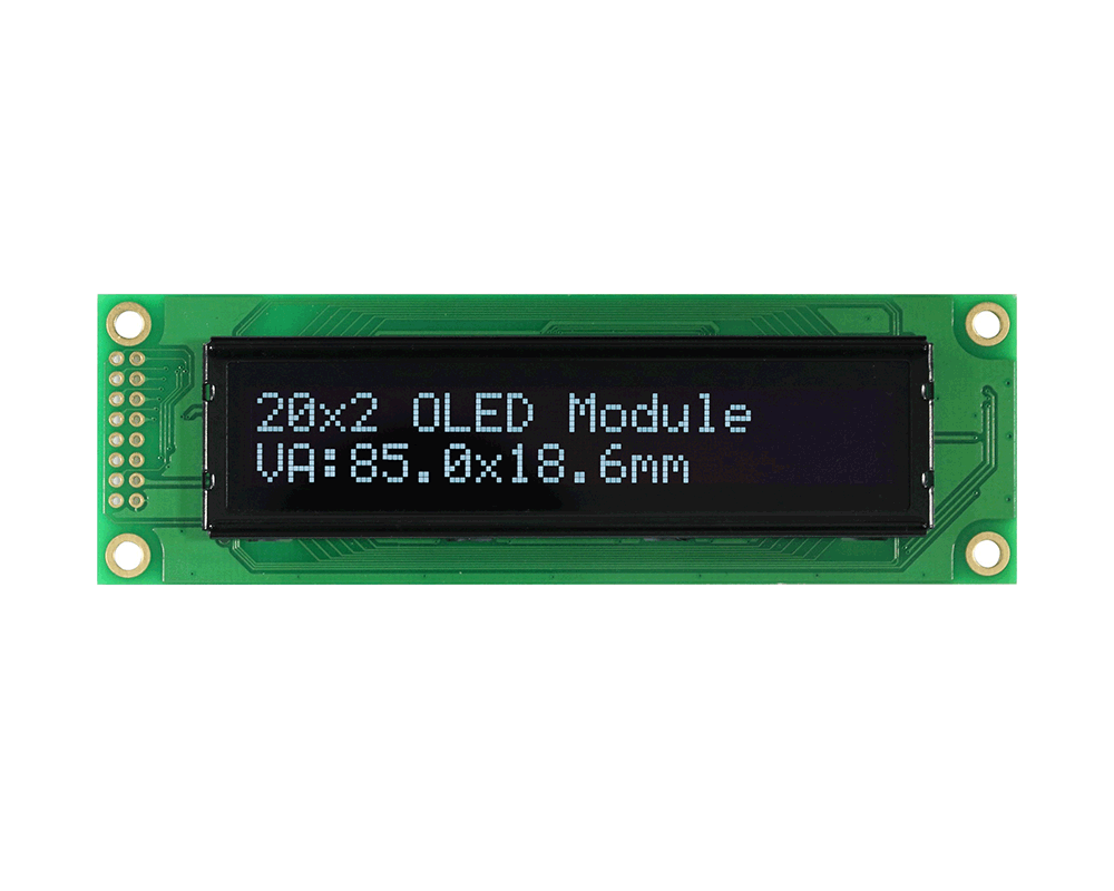 Character OLED 20x2, OLED Character Module 20x2 - REC002002A