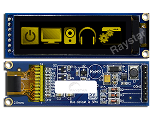 "2.08"", 256x64 OLED Display COG+PCB"