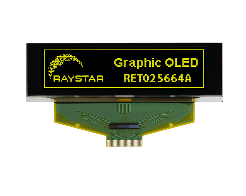 2.8 OLED Graphic Display Module 256x64 - RET025664A