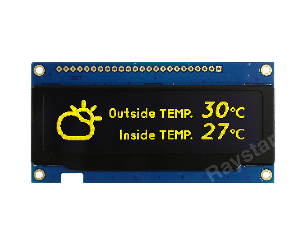 3.12 inch 256x64 OLED Display with PCB + Frame - RET025664B-PCB