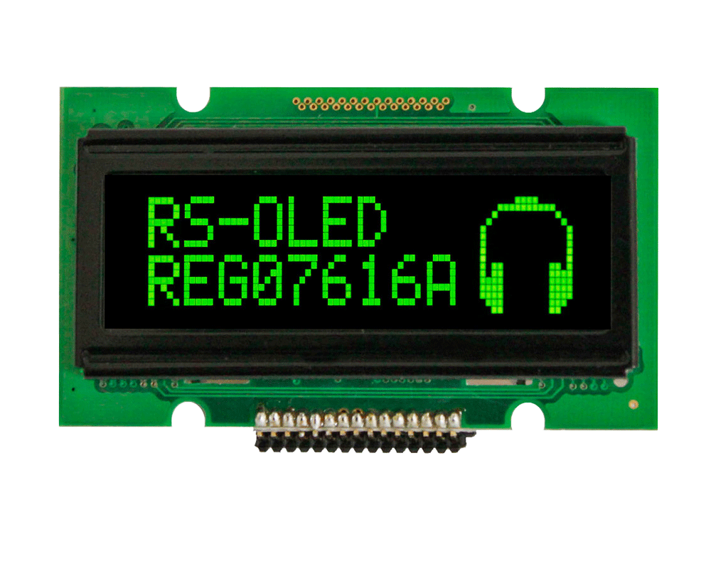1.7 OLED, 76x16 Graphics OLED Display - REG007616A