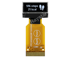 96x32 OLED, OLED 96x32 0.68 OLED,  With ZIF FPC, REX009632B-ZIF - Raystar