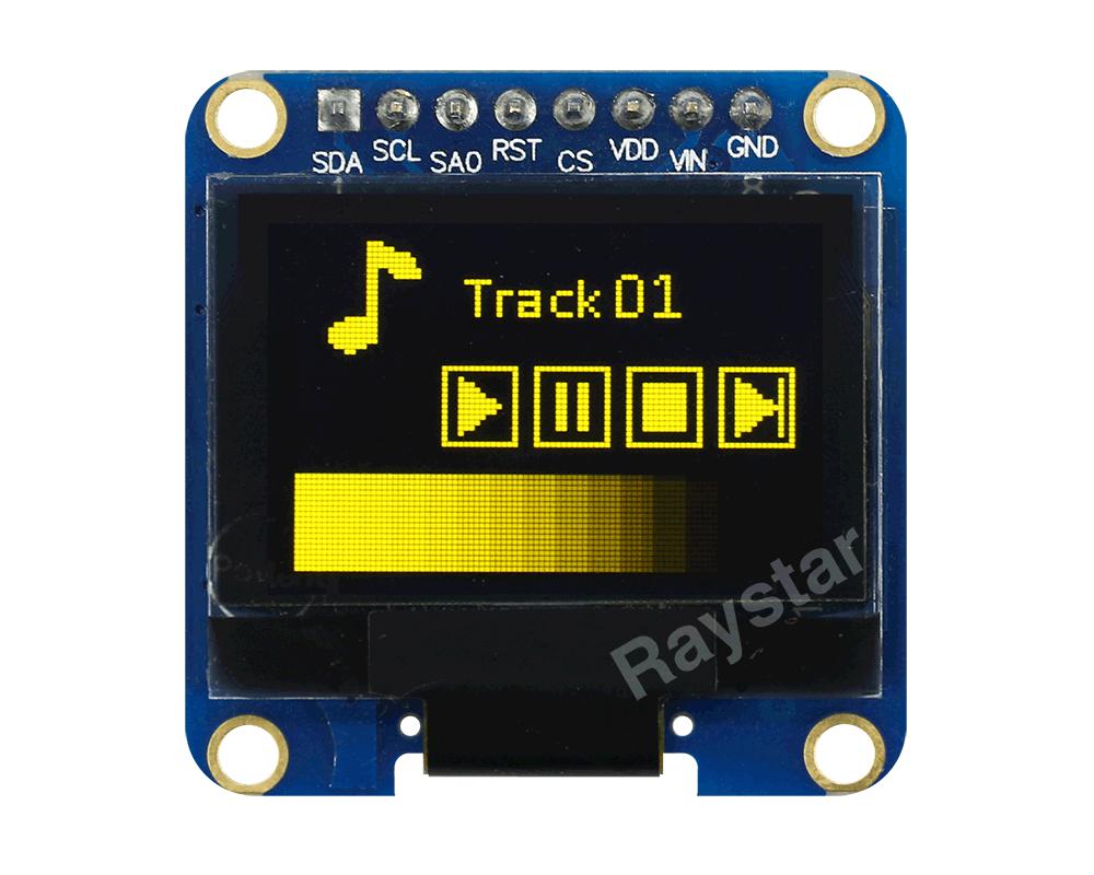 SSD1327 OLED - Raystar