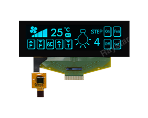 3.12 inch 256x64 OLED Display with Capacitive Touch - RET025664B-CTP