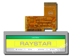 3.9, 480x128 Top View Bar TFT LCD Display - RFS390C-AIW-DNN - Raystar