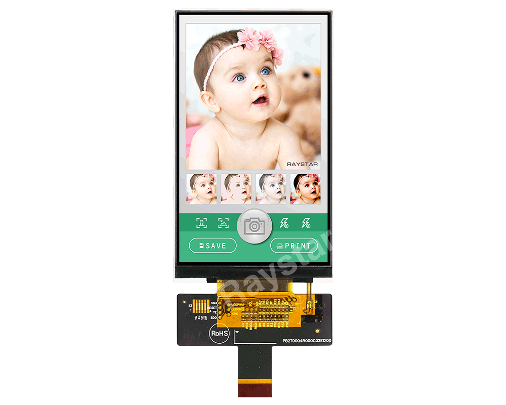 3.97 inch IPS MIPI TFT LCD Display Module - RFO400C-AYW-MNN
