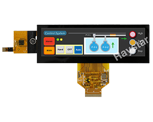 5.2 Capacitive Touch Stretched Bar TFT LCD Display - RFS520A-ALH-DNG