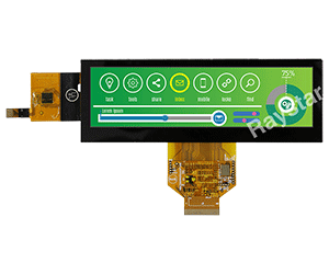 "5.2"" Bar Type TFT LCD Display with Projected Capacitive Touch Panel"
