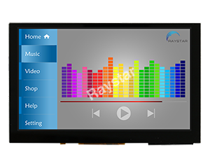 LCD 5 inch 800x480 Support HDMI Signal TFT with Projected Capacitive Touchscreen