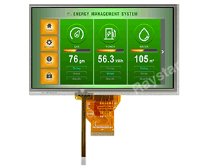 7 inch High Brightness RTP TFT LCD Display - RFF700A2-AIH-DNS - Raystar