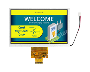 7 inch 800x480 High Brightness, Wide Temperature IPS TFT LCD - RFF700A9-AWH-LNN