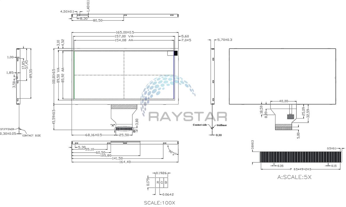 TFT LCD 800x480 - Raystar Optronics, Inc.